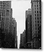 View Up 6th Ave Avenue Of The Americas From Herald Square In The Evening New York City Winter Metal Print by Joe Fox
