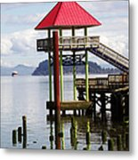 Viewing The Columbia River Metal Print by Pamela Patch