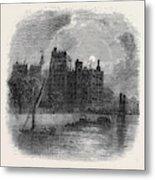 Views On The Embankment, London, 1870 Metal Print