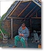 Viking Fisherman At L'anse Aux Meadows-nl  Metal Print