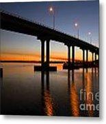 Vilano Bridge At Dusk St Augustine Florida Metal Print