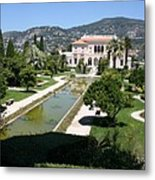 Villa Ephrussi De Rothschild And Garden Metal Print