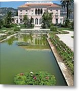 Villa Ephrussi De Rothschild With Reflection Metal Print