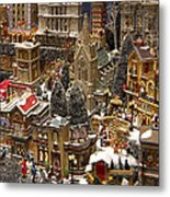 Village Christmas Scene Metal Print