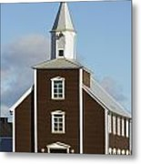 Village Church Of Eyrarbakki Metal Print by Michael Thornton