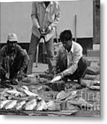 Village Fish Market 1 Metal Print by Bobby Mandal
