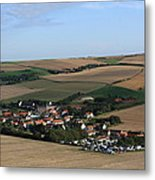 Village In A French Landscape  Metal Print