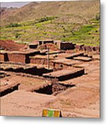 Village In Atlas Mountains In Morocco Metal Print
