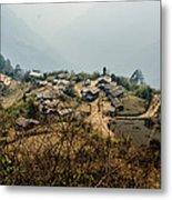 Village In Sikkim Metal Print