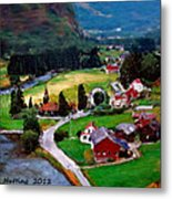 Village In The Mountains Metal Print