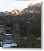 Village In The Mountian Metal Print