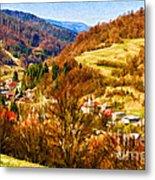 Village In The Valley Metal Print