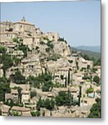 Village Of Gordes Metal Print
