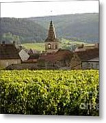 Village Of Monthelie. Burgundy. France Metal Print