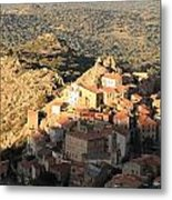 Village Of Speloncatu In Corsica Metal Print