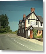 Village Scene In Middle Mayfield, The Rose And Crown Public Metal Print