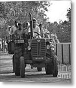 Village Tractor  Metal Print by Bobby Mandal