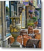 Village Vendors Metal Print