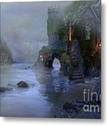 Villages By The Foggy Sea II Metal Print