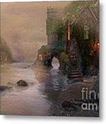 Villages By The Foggy Sea   Metal Print