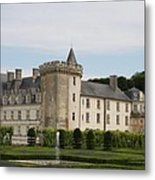 Villandry Chateau And Boxwood Garden Metal Print