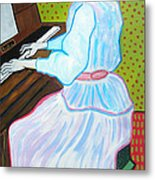Vincent Van Gogh's Marguerite Gachet Playing At The Piano Metal Print