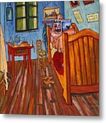 Vincents Bedroom In Arles For Surfers-amadeus Series Metal Print