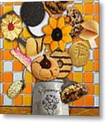 Vincent's Sunflower Cookie Jar Metal Print