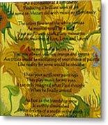 Vincent's Sunflower Song Metal Print