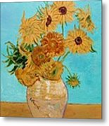 Vincent's Sunflowers Metal Print