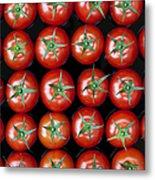 Vine Tomato Pattern Metal Print