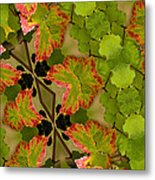 Vineyard Quilt Metal Print