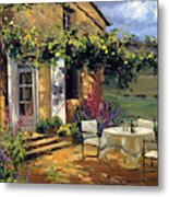 Vineyard Villa Metal Print