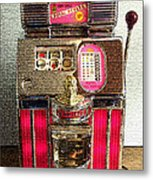 Vintage 10 Cent Slot Machine Metal Print