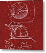 Vintage 1932 Firemans Helmet Patent Metal Print