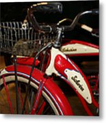 Vintage 1941 Boys And 1946 Girls Bicycle 5d25760 Square Metal Print