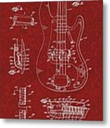 Vintage 1961 Fender Guitar Patent Metal Print