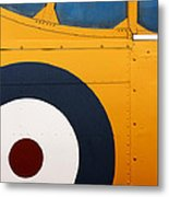 Vintage Airplane Abstract Design Metal Print by Carol Leigh