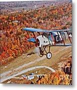 Vintage Airplane Postcard Art Prints Metal Print