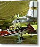 Vintage Airplanes Display Metal Print