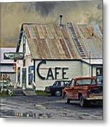 Vintage Alaska Cafe Metal Print