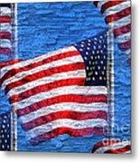 Vintage Amercian Flag Abstract Metal Print