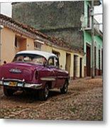 Vintage American Cars In Cuba Metal Print