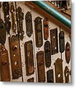 Vintage And Antique Door Knob And Lock Plates Metal Print