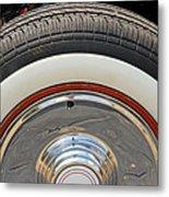 Vintage Automobile Tire Metal Print