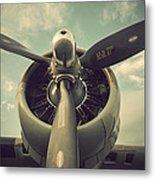 Vintage B-17 Flying Fortress Propeller Metal Print