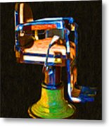 Vintage Barber Chair - 20130119 - V1 Metal Print
