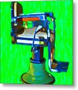 Vintage Barber Chair - 20130119 - V2 Metal Print