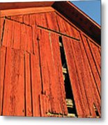 Vintage Barn Aglow Metal Print