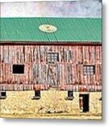 Vintage Barn - Wood And Stone Metal Print